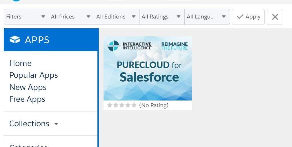 Interactive Intelligence anuncia la disponibilidad de PureCloud Engage en  Salesforce AppExchange f9cc1bd14730