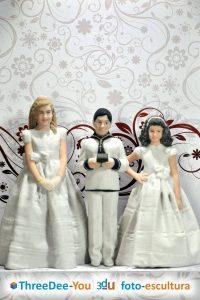 Figuras para tarta de boda, comunión y cumpleaños – Foto-Esculturas de ThreeDee-You 3d-u