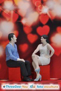 Esculturas en 3d – Regalo de San Valentín – ThreeDee-You Foto-Escultura 3d-u