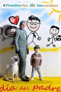 Regalo del Día del Padre - Esculturas 3d - ThreeDee-You Foto-Escultura 3d-u