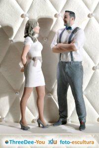 Figuras para tarta de boda, comunión y cumpleaños - ThreeDee-You Foto-Escultura 3d-u