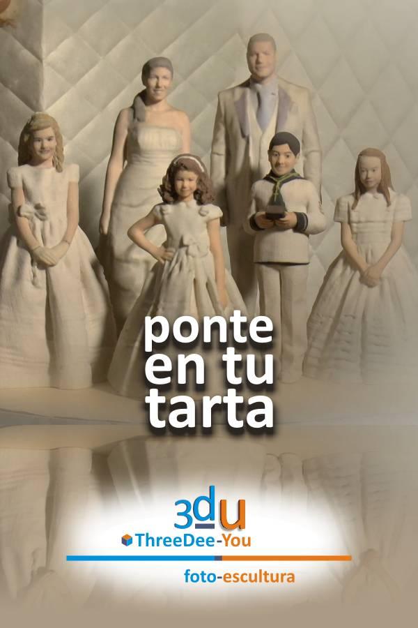 Ponte En Tu Tarta - figuras personalizadas para tartas- ThreeDee-You Foto-Escultura 3d-u