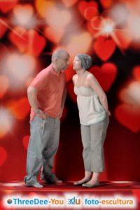 San Valentín – Los dos en 3d - ThreeDee-You Foto-Escultura 3d-u