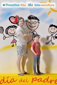 Regalo Día del Padre - ThreeDee-You Foto-Escultura 3d-u