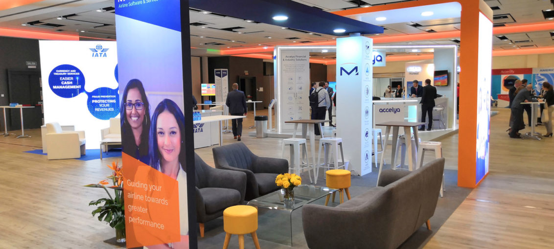 Spain booth design and construction at hotels and congress